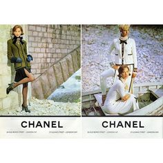 2016/05/25 11:52:30 natecomtemplaro Chanel never went wrong. Karl Lagerfeld picked Christy Turlington and Linda Evangelista to be the face of Chanel's f/w 1991/92.   Christy, Linda, and Naomi were the best supermodels in late 80's to the 90's era -- they were called The Trinity. Three of them were the best feature in all Fashion big Houses. They brought what we call exquisite expressions and LEGS!  #vintageWednesday #bonjour #chanel #fallwinter #1991 #supermodel #era #christyturlington…