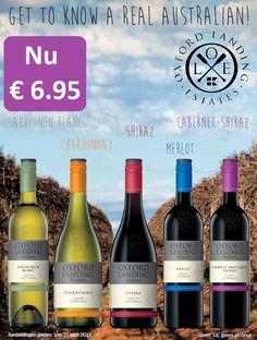 Een heerlijke serie deze Oxford Landing Estates wijnen. Voor elk wat wils: Sauvignon Blanc, Chardonnay, Shiraz, Merlot en Cabernet-Shiraz. Nu in de aanbieding! http://www.flesjewijn.com/oxford+landing+estates