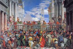 Paolo Veronese, The Wedding at Cana - パオロ・ヴェロネーゼ - Wikipedia