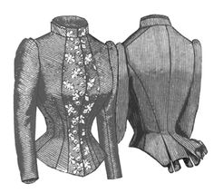 1884 French Vest Bodice