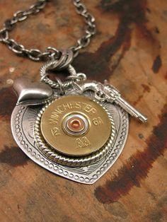 Shotgun Casing Jewelry Gun Jewelry 12g Shot Through by thekeyofa