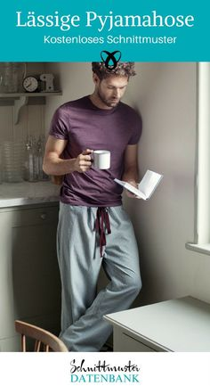 Pyjamahose Unisex Nähen kostenloses Schnittmuster kostenlose Nähanleitung Nähen für Männer Geschenk Schlafanzug