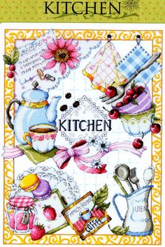 Kitchen K3 Counted Cross Stitch Original Design por PinkNelie