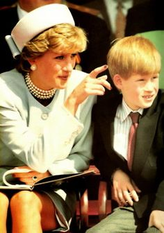 May 7, 1995: Princess Diana was joined by Prince William & Prince Harry at the 50th Anniversary Celebration of VE Day in Hyde Park , London.