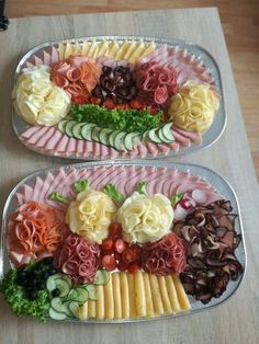 Meat Appetizers, Appetizers For Party, Appetizer Recipes, Simple Appetizers, Party Food Platters, Food Trays, Meat Trays, Meat Cheese Platters, Cold Dishes