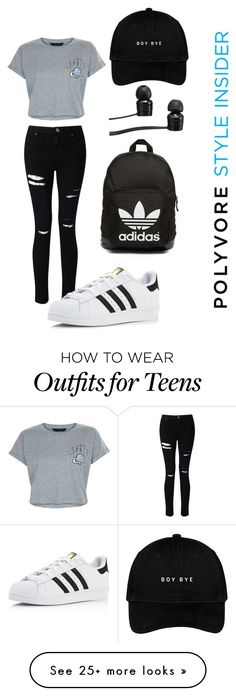 """Back to school"" by champangebitch on Polyvore featuring New Look, Miss Selfridge, adidas, Vans and adidas Originals"