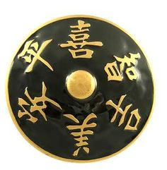 3 Inch Black and Gold Epoxy Harmony Knob
