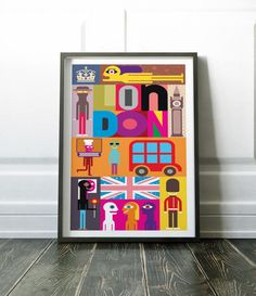 London Print, London Poster, Wall Art, Modern London, Modern London Art, City Print, London Art, Travel Print, London Abstract, London, Art