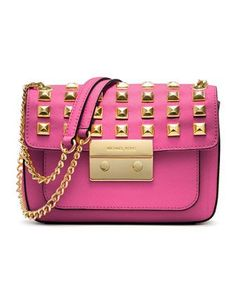 MICHAEL Michael Kors  Small Sloan Studded Shoulder Bag. $298