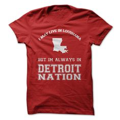 Louisiana For Detroit NationWear this t-shirt with pride and rep your state!detroit, detroit redwings, louisiana fans
