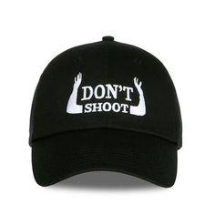 5c44322cac8 black dont shoot cap dad hat Black Baseball Cap