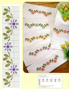 Daisy chain cross stitch (love the Blue and yellow)
