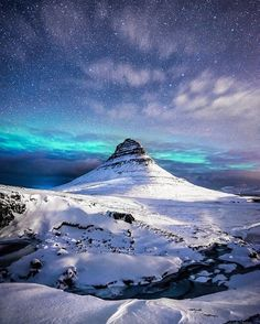 @andreah1306 captured this otherwordly image of Kirkjufell, a mountain on west Iceland's Snæfellsnes peninsula - another #lpmag100 cover competition winner.⠀ ⠀ 'It was -12°C that day, and the skies were completely cloudless. I'd been shooting the sunset, and decided to hold out until midnight – when the Northern Lights showed up, as if on cue. The skies were so clear that behind me even the Milky Way was visible with the naked eye.' ⠀ ⠀ What a shot! #lpmag100 #iceland #kirkjufell…