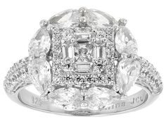 Bella Luce® 5.55ctw Rhodium Over Sterling Silver Ring