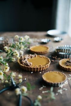 ^^ Caramelized White Chocolate Tart with Cashew Brittle via Always with Butter :)