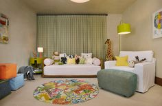 Rustic Interior For Kids Room Near Clear Daybed Along With Clear Sofa As Contemporary Kids Furniture