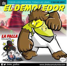 "#ElCartonDelDia ""EL DEMOLEDOR"" #America #ChivasTV @ClubAmerica#CopaMX @Chivas"