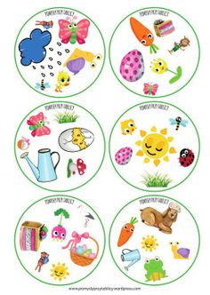 Spring is here! Printable Activities For Kids, Alphabet Activities, Infant Activities, Teach English To Kids, Teaching English, Diy For Kids, Crafts For Kids, Kindergarten Portfolio, Nursery School