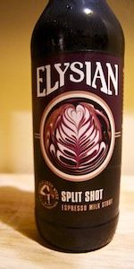 Split Shot Espresso Milk Stout   Elysian Brewing Company   Seattle, WA- very smooth, use an aggressive pour to limit carbonation 4.5/5