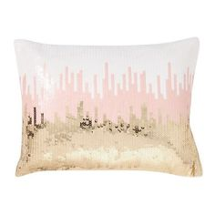 PB Teen Sequin Ikat Pillow Cover, 12X16, Mint at Pottery Barn Teen -... (675 HNL) ❤ liked on Polyvore featuring home, bed & bath, bedding, pbteen, ikat bedding, white pillow shams, white bedding and sequin bedding