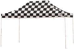ShelterLogic 22555 10 ft. x 15 ft. Pro Pop-up Canopy Straight Leg Checker Flag Cover