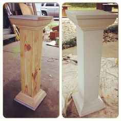 Built these wedding columns..when you can't find just want you want!