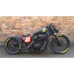 Honda Shadow Bobber, Honda Bobber, Bobber Bikes, Harley Bobber, Cafe Racer Bikes, Harley Bikes, Bobber Motorcycle, Moto Bike, Indian Motorcycles