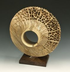 """Transitions."" Turned and carved from Ambrosia Maple. $3,500."
