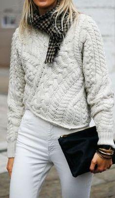 21e1c3b95ed70  beauty Chunky cable knit... Miss Savy World · My fav winter style things! Christian  Siriano ...