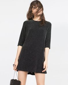 Image 2 of SHIMMER THREAD DRESS from Zara