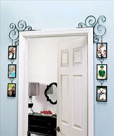 Amazon.com - Unique Wall Picture Frame Great for a Collage Family Tree Decorative Scroll Photo Gallery Frame Set for Doorway or Window Great Frames for Grandchildren Mother and Child Pets and Wedding Photo. -