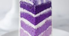 COLORFUL AND DELICIOUS PURPLE OMBRE LAYER CAKE!