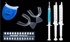 Teeth Whitening Kit with 3ML Remineralization Gel,10ML Tooth whitening gel,Mouth Trays and Light Teeth Whitner * Discover this special product, click the image : Teeth Whitening