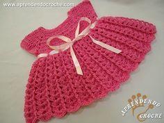 Vestido de Crochê infantil com Gráficos - Passo a passo - Toda Atual                                                                                                                                                                                 Mais