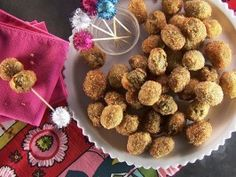 Chorizo-Stuffed Fried Olives from CookingChannelTV.com