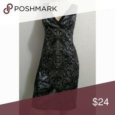 Jones Wear Dress Size 12 Black dress with silvery designs Jones Wear Dress Dresses