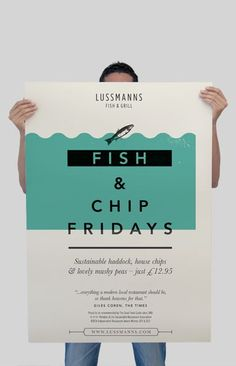 Best Film Posters : Lussmanns Restaurant Adverts campaign by Spinach Design. Old Street London. (ww