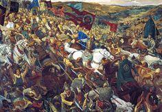 1380 Bof Kulikovo, 8 de Septiembre de 1380, en la cual se enfrentaron los mongoles de la Horda de Oro, apoyados por tártaros y lituanos, contra una confederación de Principes rusos dirigida por el de Moscú, Dmitri Donskói. El combate se inició con un choque entre las caballerías de ambas partes, siendo la rusa rápidamente derrotada por los mongoles. Sin embargo la infantería... Más en www.elgrancapitan.org/foro