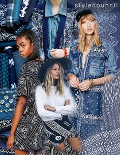 Style Council : Bandana: Not just a handkerchief, this intricate design element is making a big statement this season. With its bold boarders, pretty paisleys and mirrored repeats these bandana prints are a step above cowgirl chic. Mixing denim and batik textures with scarf and patchwork layouts this edgy look will complete any spring/summer ensemble.