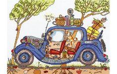 Cut Thru' Vintage Car Cross Stitch Kit £30.20 | Past Impressions | Bothy Threads