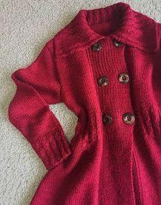 01f9899c69 Casaco Evasê Flash em Tricô   trico feminino   Casaco de trico ...