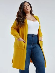 Long Sweater Outfits, Long Cardigan, Sweater Cardigan, Cardigan Fashion, Leggings Fashion, Fashion Pants, Plus Size Fashion Blog, Curvy Girl Fashion, Curvy Outfits