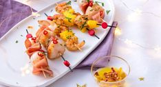celles-ci avec Coquille Saint Jacques, Bruschetta, Shrimp, Toast, Vegetables, Ethnic Recipes, Desserts, Kitchen, Food