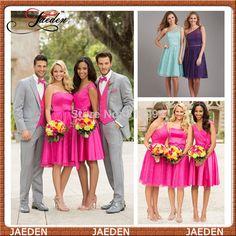 PB431 New Arrrival 2015 Fashion Design Knee Length Short Elegant Bridesmaid Dress Formal Wedding Party Dress Gown Custom Lace  $89.00