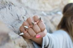 MAKE YOUR OWN SPIKED KNUCKLEBUSTER RING // @Christina McC, we should totally make these and then wear them while we take your pitbull and rotweiller out for a walk.