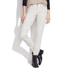 Skinny Skinny Ankle Jeans in Twin Stripe - skinny skinny - Women's DENIM - Madewell