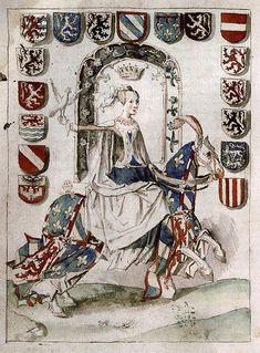 Marie of Burgundy on horseback