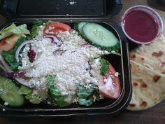 Small Greek Salad w/ Beet Dressing @ Walker Grill.  $6.00 plus tax