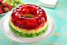 This gelatin in addition to having a delicious acidic and creamy flavor will delight you for any special occasion. Prepare it any weekend and eat a bit every day. Strawberry Dessert Recipes, Jello Desserts, Sugar Free Desserts, Healthy Desserts, Mexican Jello Recipe, Fruit Jelly Recipe, Mexican Food Recipes, Gelatin Recipes, Jello Recipes