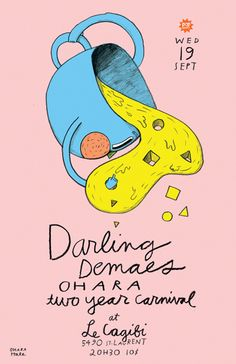 GigPosters.com - Darling Demaes, The - Ohara - Two Year Carnival  by Ohara Hale